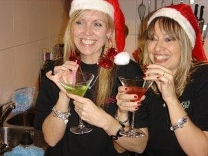 Cocktails add some Christmas cheer - they did for the WOW girls !
