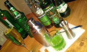 Irish themed cocktails for St Patricks Day