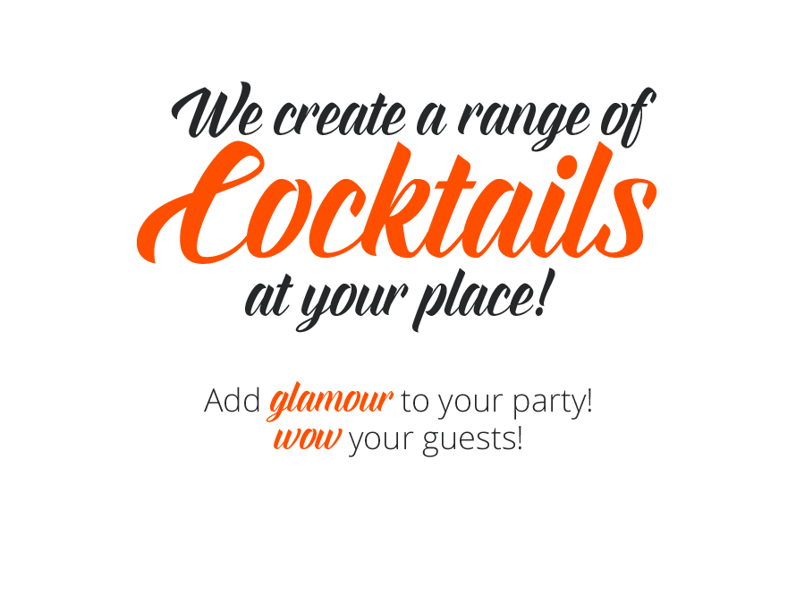 Cocktails at your place banner